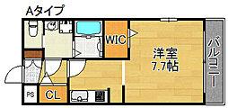 ヘーベルメゾン加賀屋[2階]の間取り