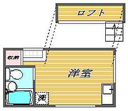 東京都豊島区西巣鴨3丁目の賃貸アパートの間取り