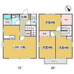 [テラスハウス] 広島県福山市本庄町中4丁目 の賃貸【/】の間取り
