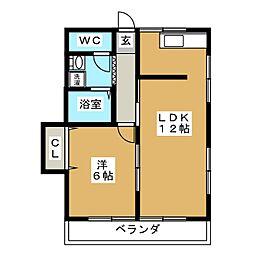 サンハイツI[2階]の間取り