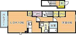 プランドールセゾンI[2階]の間取り
