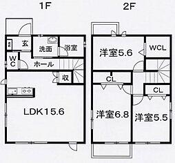 [一戸建] 静岡県富士市伝法 の賃貸【/】の間取り