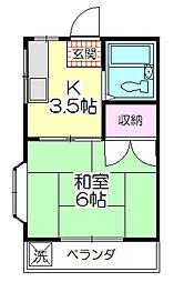 大京コーポマンション[301号室]の間取り