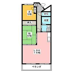 シティプレイス[7階]の間取り