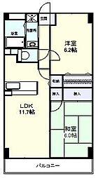 レジデンス塚田[1階]の間取り