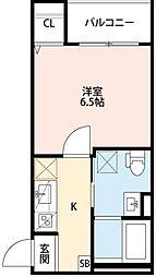 兵庫県神戸市長田区川西通3丁目の賃貸アパートの間取り