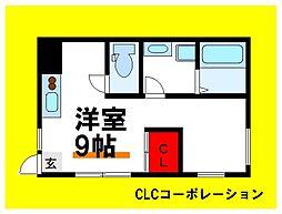 都営三田線 千石駅 徒歩3分の賃貸アパート 2階ワンルームの間取り