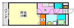 アムールMIYAMA[2階]の間取り