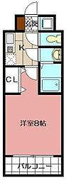 ピュアドームパラジオ博多 605号[605号室]の間取り