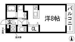 大阪府箕面市桜井1丁目の賃貸アパートの間取り