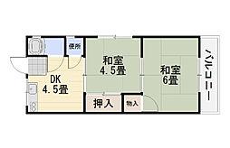 景山荘[2階]の間取り