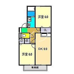 ランタナ5[1階]の間取り
