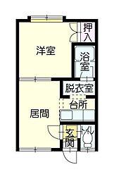 ツインハープ[2階]の間取り