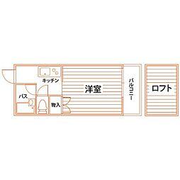 コンドミニアム折尾駅前[208号室]の間取り