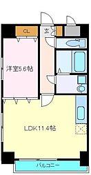 仙台市営南北線 勾当台公園駅 徒歩3分の賃貸マンション 9階1LDKの間取り