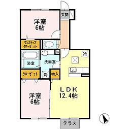 D-room ウイングコート[1階]の間取り