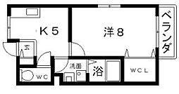 コージーコートK[1階]の間取り