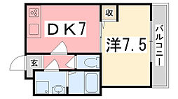 東雲Kマンション[203号室]の間取り