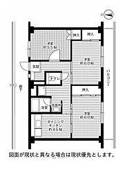ビレッジハウス駅家[3階]の間取り