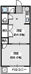 ニュー白樺ハイツ[2階]の間取り