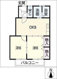 コートハウスII[1階]の間取り
