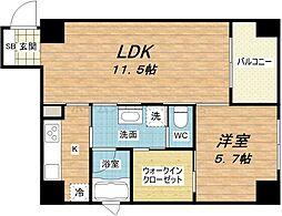 KWレジデンス堺筋本町[9階]の間取り