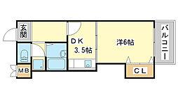 MISTRAL岡田[208号室]の間取り