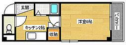 広島県広島市中区千田町3丁目の賃貸マンションの間取り