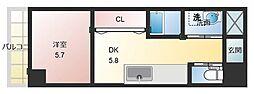 メゾンドクレチュール 1階1DKの間取り