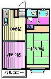 メゾンプルミエール[203号室]の間取り