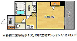 キタノフラッツプラス[3階]の間取り