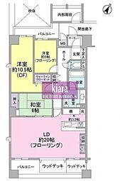 神奈川県横浜市南区万世町2丁目の賃貸マンションの間取り