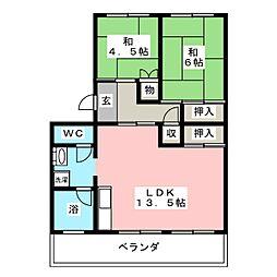 コーポひかり[2階]の間取り