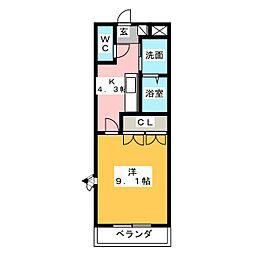 ガーデンヒル[2階]の間取り