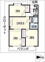 シティガーデン五軒家[3階]の間取り