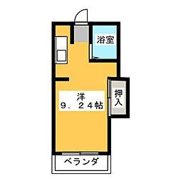 コーポブルー[3階]の間取り