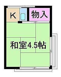 文月荘[2階]の間取り