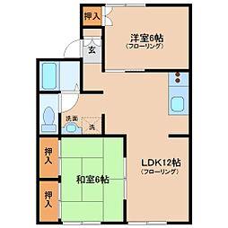セジュール加納 B棟[2階]の間取り