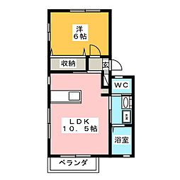 ルールマランA[2階]の間取り