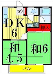 竹内ハイツ(第2・3・5)[3-202号室]の間取り