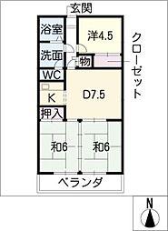 伊藤ハイツ[4階]の間取り