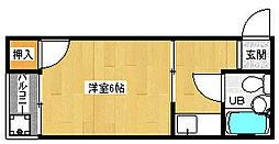 京都府京都市北区紫野大徳寺町の賃貸マンションの間取り