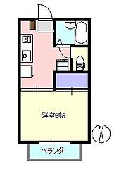 ビューパレス茅ヶ崎 205[2階]の間取り