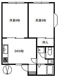 東京都杉並区上井草3丁目の賃貸アパートの間取り