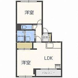 北海道札幌市北区北二十八条西15丁目の賃貸マンションの間取り