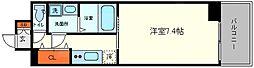 ブランTAT福島 6階1Kの間取り
