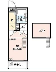 アクアミツナオII[1階]の間取り