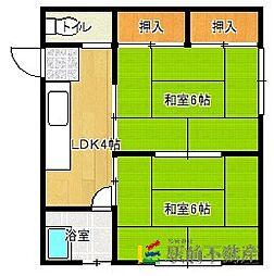 竹丘荘[2階]の間取り