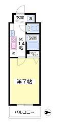 フォレステージ桜川7階Fの間取り画像