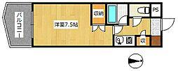 大阪府高槻市城西町の賃貸マンションの間取り